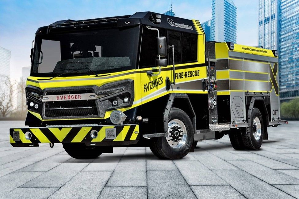Black Out Fire Truck