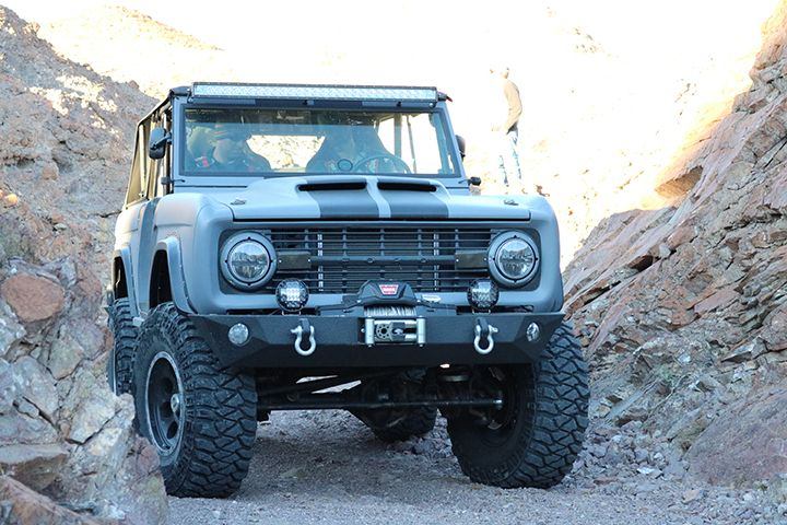 1975 Ford Bronco Exterior Refinished With LINE X ULTRA Specialty Polyurea Coating