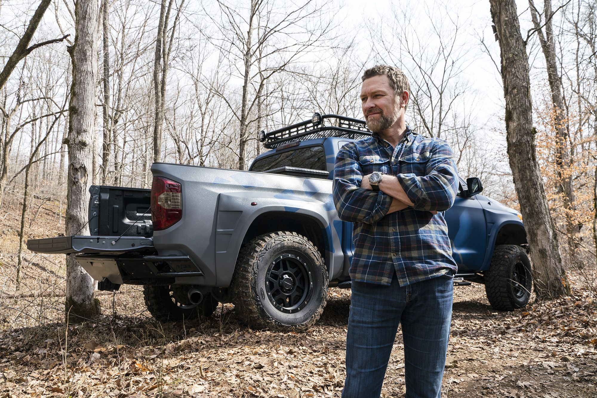 Craig With Blue Tundra Side