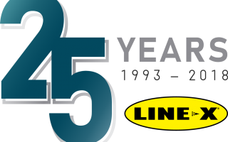 Line X 25th Anniversary Logo Full Color