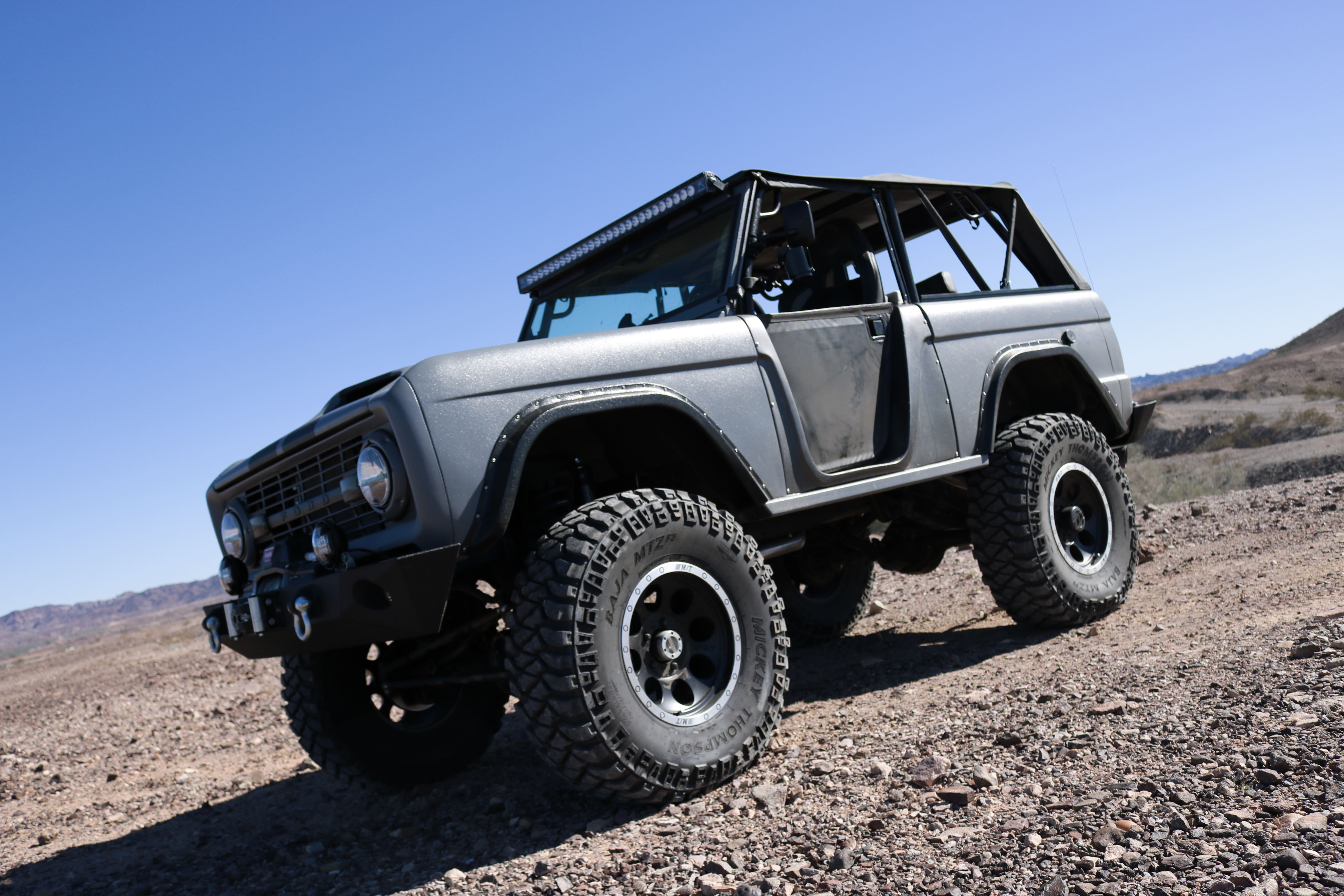 1975 Ford Bronco Exterior Refinished With Line X Ultra